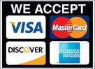 Image result for all major credit cards accepted